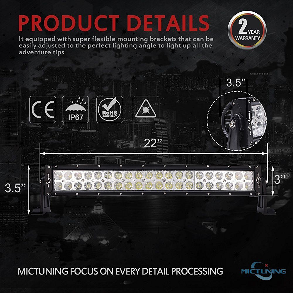 Amazon mictuning 22 curved 120w led light bar combo 9000lm amazon mictuning 22 curved 120w led light bar combo 9000lm off road asfbconference2016 Choice Image