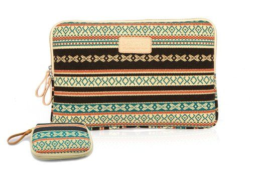Amazon.com : kayond 2013 new Bohemian Style Canvas Fabric 11-11.6 Inch laptop / Notebook Computer / MacBook / Macbook Air/MacBook Pro Sleeve...