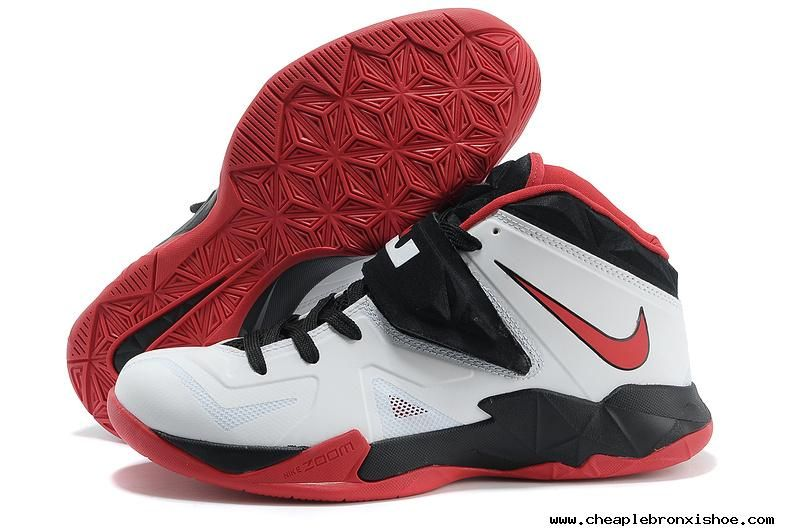 Buy New White Black Red Nike Zoom Soldier VII 599264 005