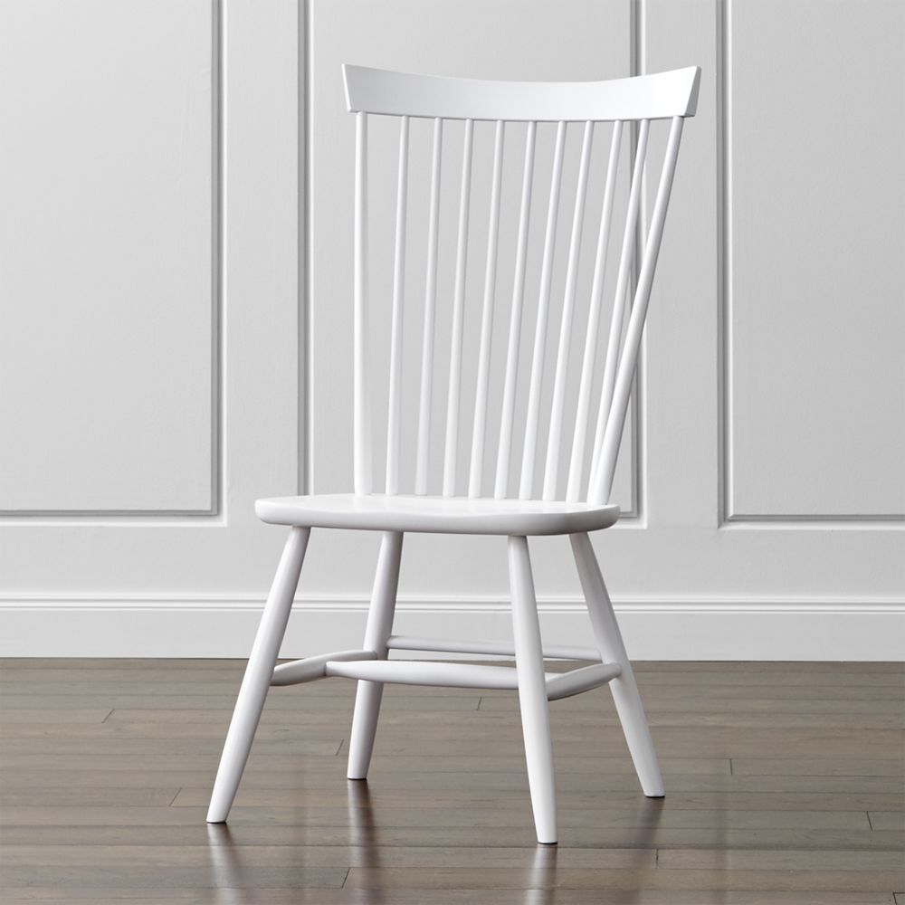 Marlow II White Wood Dining Chair - Crate and Barrel | White wood ...