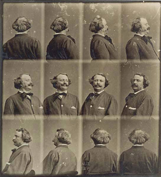 © Nadar (Gaspard-Félix Tournachon), ca. 1865, Revolving selfportrait  Nadar was the first person in history to take aerial photographs (he was a balloonist) and was one of the pioneers of artificial lighting (he photographed in the catacombs of Paris). Nadar also created an impressive collection of portraits of famous individuals during his time.