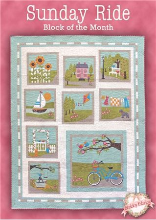 Sunday Ride BOM - Block of the Month: Take a Sunday Ride without breaking a sweat with this Shabbyfabrics.com