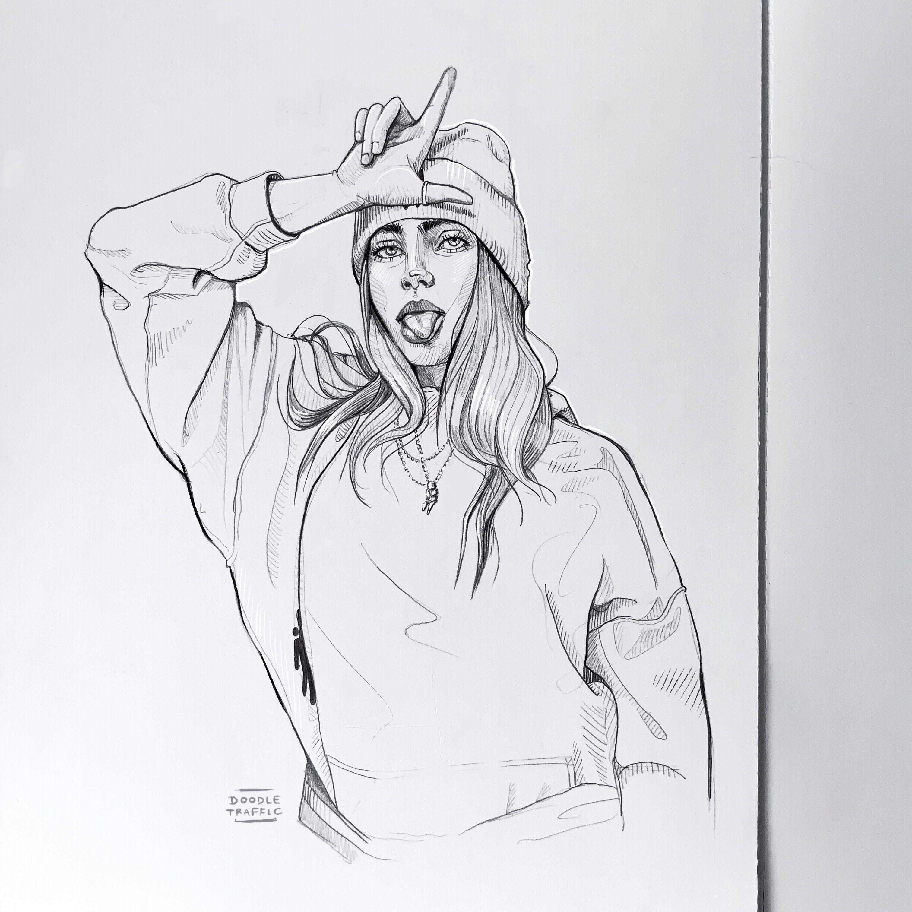 billie eilish  l  Çizim fikirleri Çizimler sanat pop