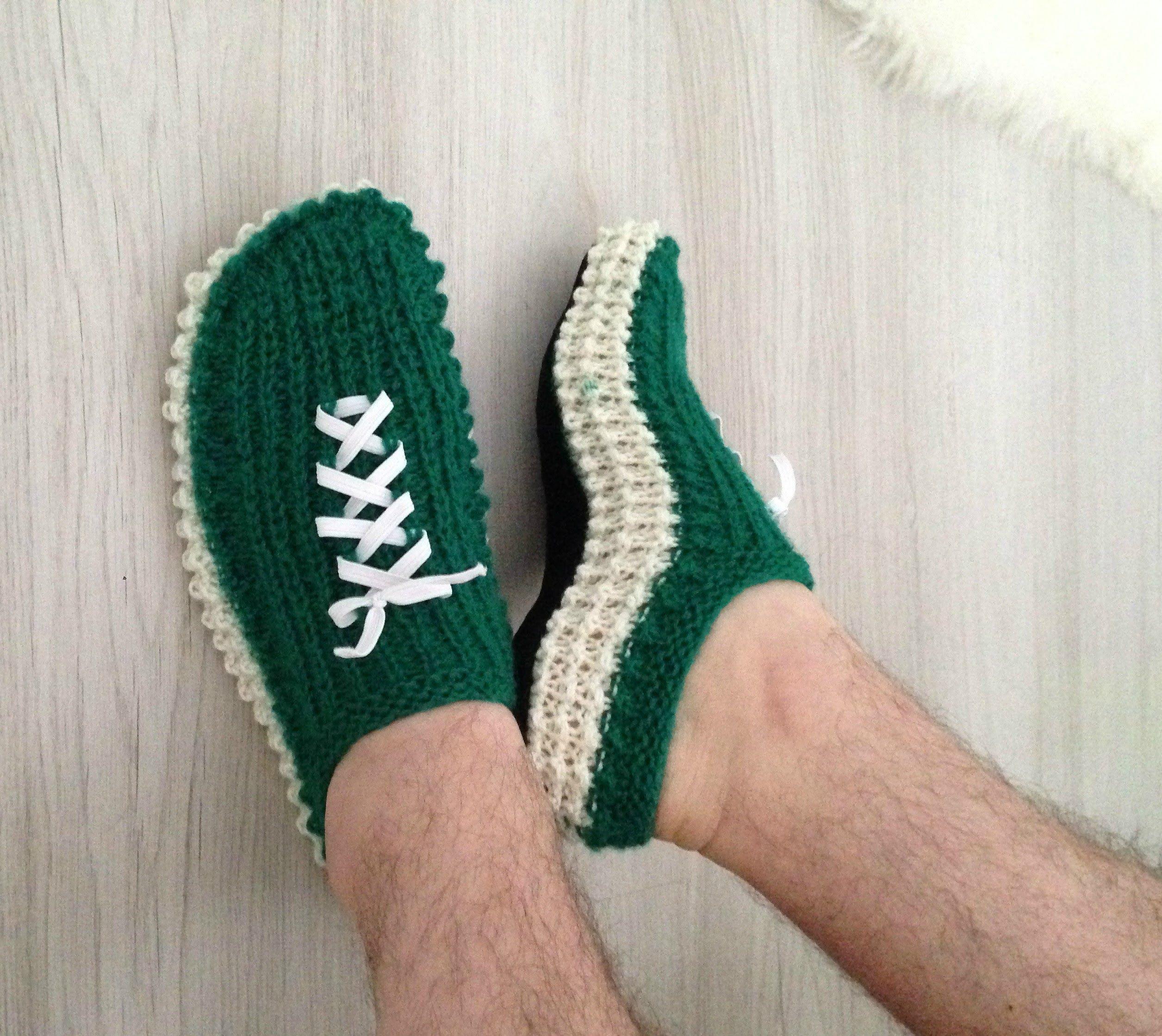 13*Как связать тапочки спицами. | обувь | Pinterest | Hausschuhe ...