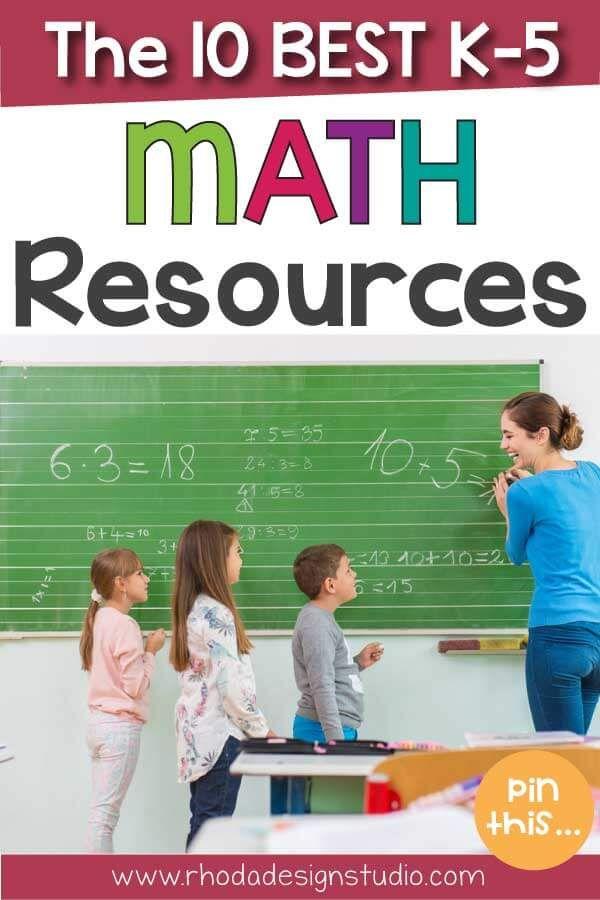 The 10 Best K-5 Math Teaching Resources | Teacher pay teachers, Math ...