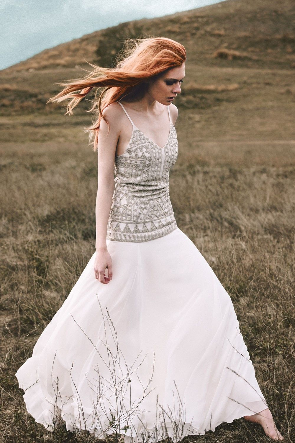 Inanna Beaded Slip Gown Another Freakishly Beautiful Mara Hoffman Wedding