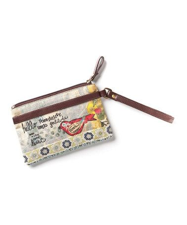 Look what I found on #zulily! Brown & Yellow 'Hello Possibility' Wristlet by Kelly Rae Roberts #zulilyfinds