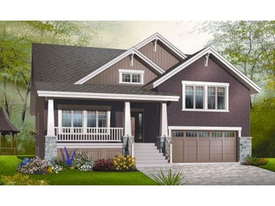 Craftsman style house plan 4 beds baths 2309 sq ft for Craftsman style split level homes