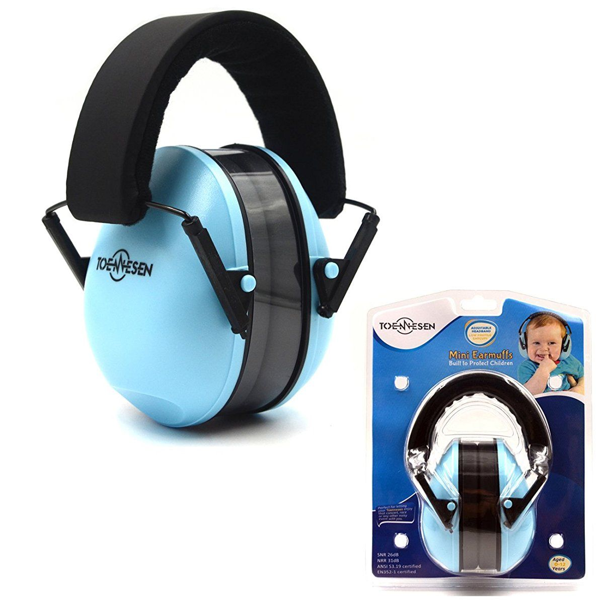 Noise Canceling for Children /& Infants Low Profile Cups Fully Adjustable for 0-12 Yrs Hearing Protection Headphones Padded Snug Fit Professional Earmuffs for Kids by My Happy Tot
