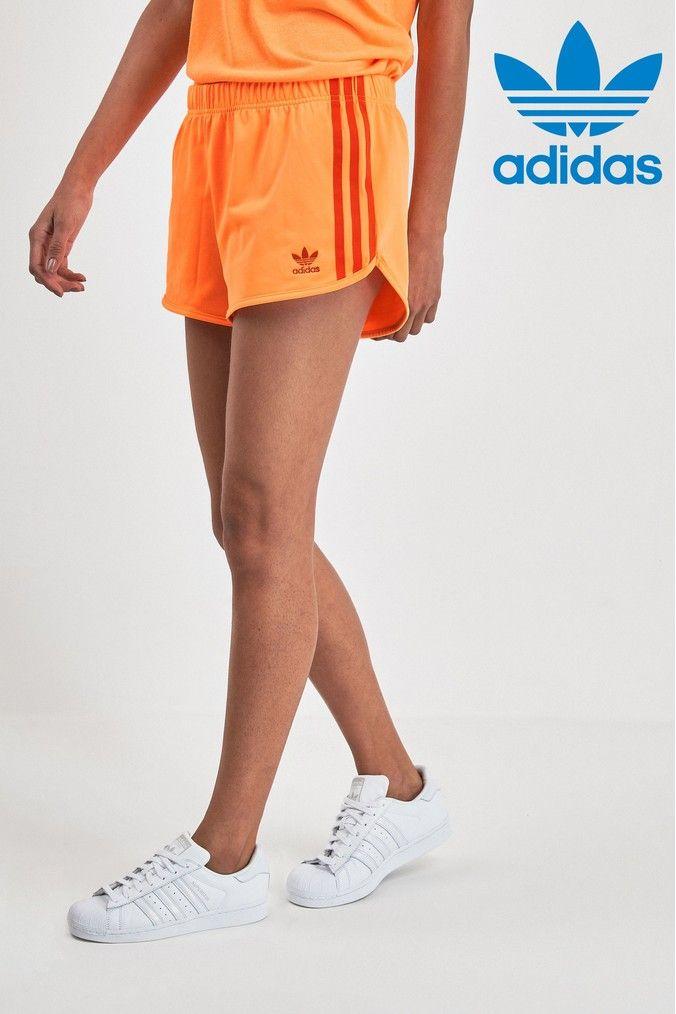 adidas retro short orange
