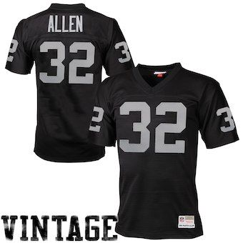 ffa05eb6d Mitchell   Ness Marcus Allen Oakland Raiders Black Retired Player Vintage Replica  Jersey