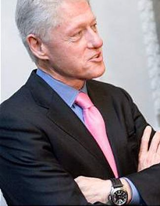 Bill clinton in a panerai replica election time fine watches from the campaign trail for Celebrity wearing panerai