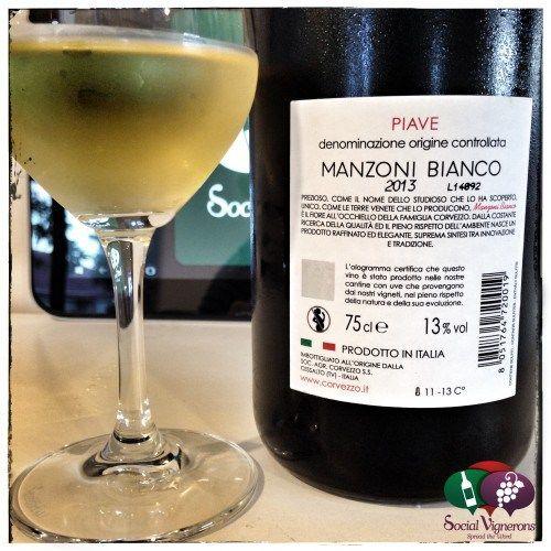 2013 Corvezzo Manzoni Bianco Piave Veneto wine bottle back label social vignerons