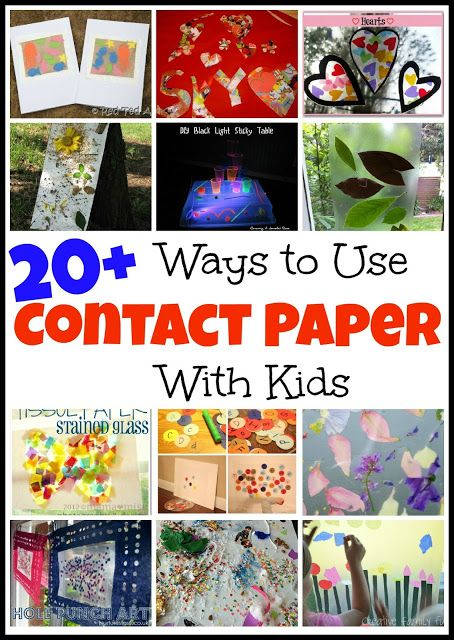 20+ Ways to use Contact Paper with Kids
