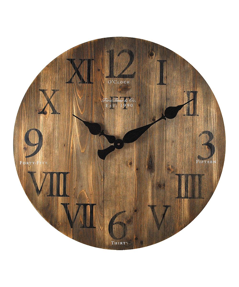 Rustic Barnwood Wall Clock Wall Clock Clock Farmhouse Wall Clocks