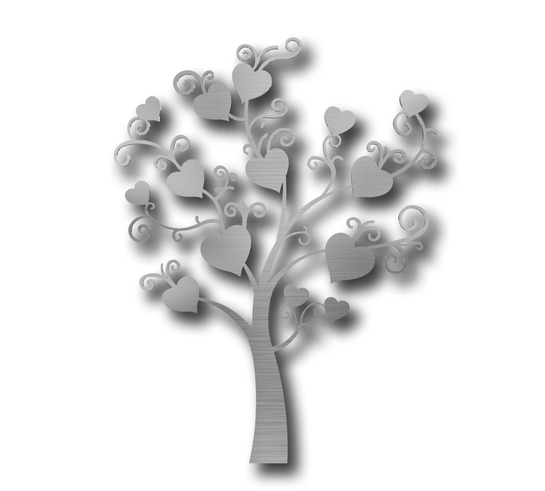 Tree Of Hearts Metal Wall Art, Tree Wall Decor, Modern Metal Wall Art,  Large Metal Wall Art, 3D Wall Sculpture, Tree Wall Art, Heart Shaped