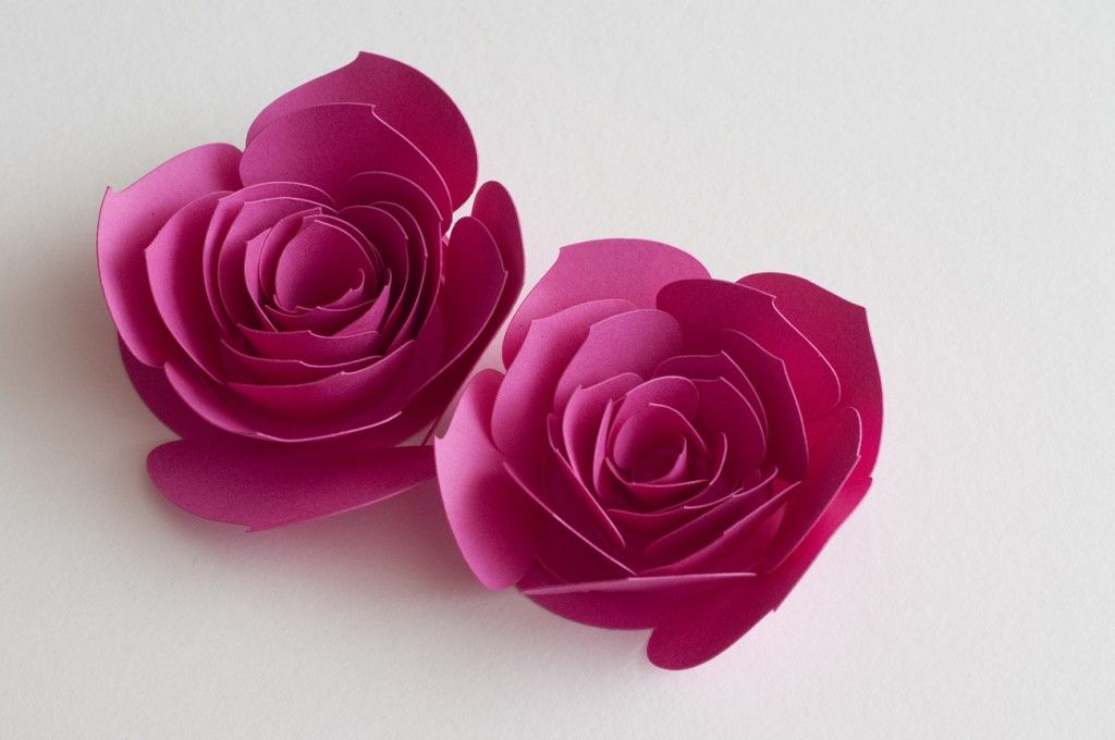 Free Cut Files For 3 Different Rolled Flowers Love These