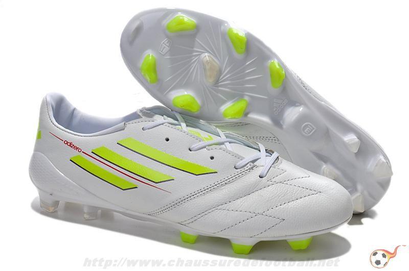 brand new eed81 68a04 2014 World Cup adidas f50 adizero Metallic TRX FG Cuir Blanc FT8400