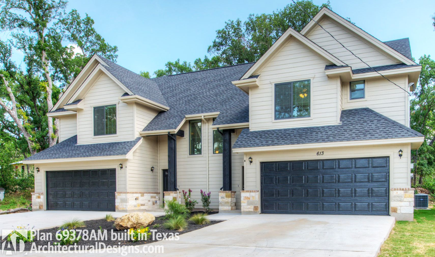 Plan 69378am Large Colonial Style Duplex Plan Duplexes In