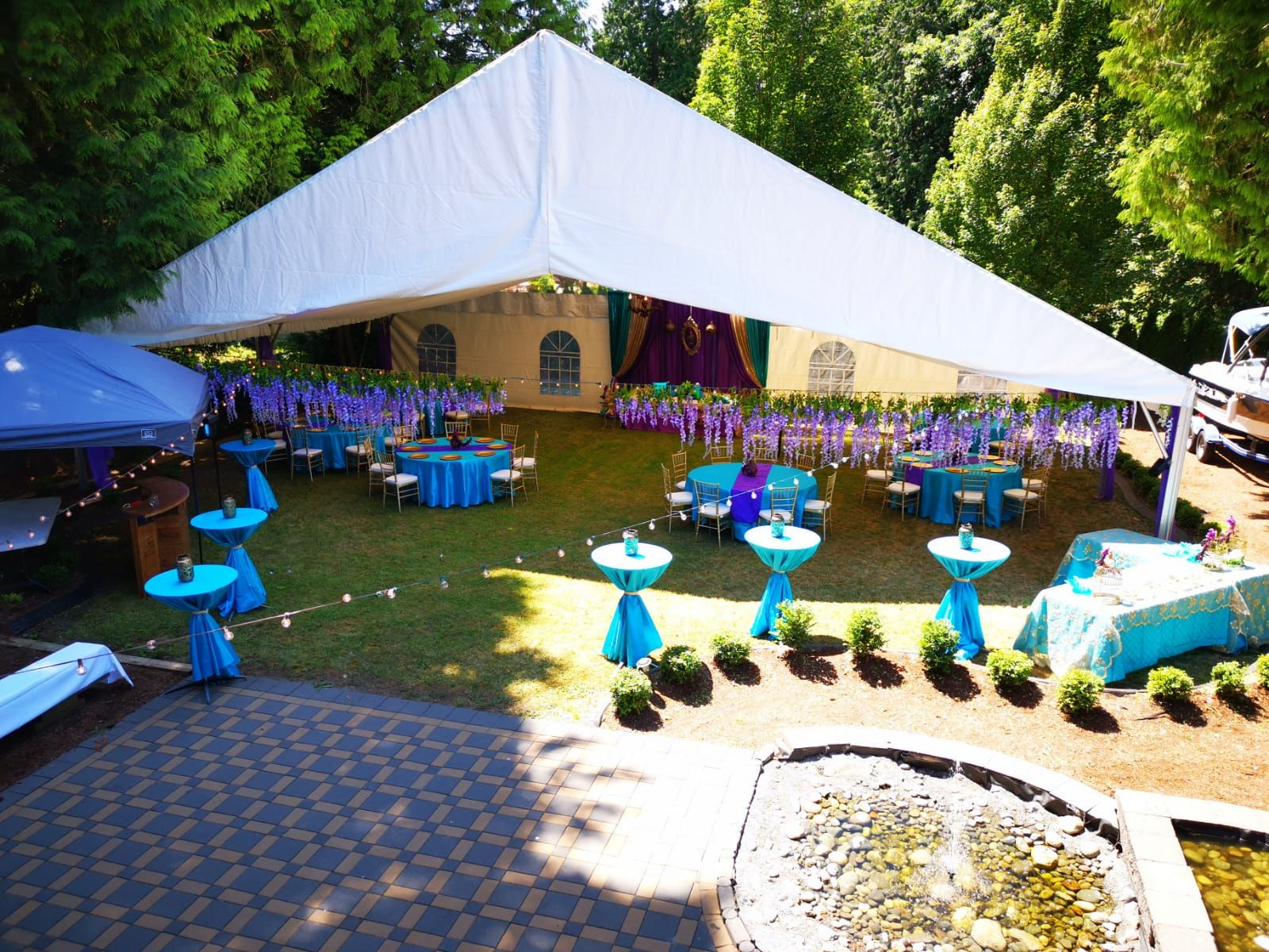 Outdoor set up by Premier Event and Tent Rentals | Sweet ...