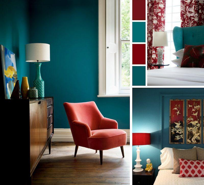 Chambre bleu canard avec quelle couleur accords classe et idées déco