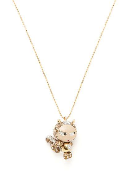 Eliot squirrel pendant necklace mi infancia dijes y infancia eliot squirrel pendant necklace by swarovski jewelry at gilt aloadofball Gallery