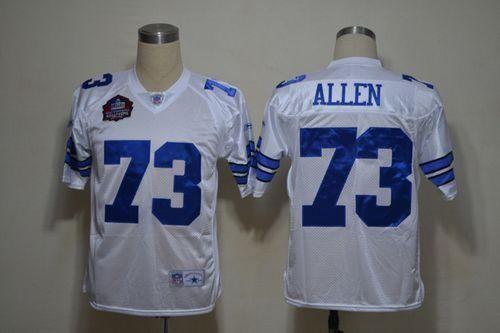 new product 8e86b d70d7 Cowboys #73 Larry Allen White Legend Throwback Stitched NFL ...