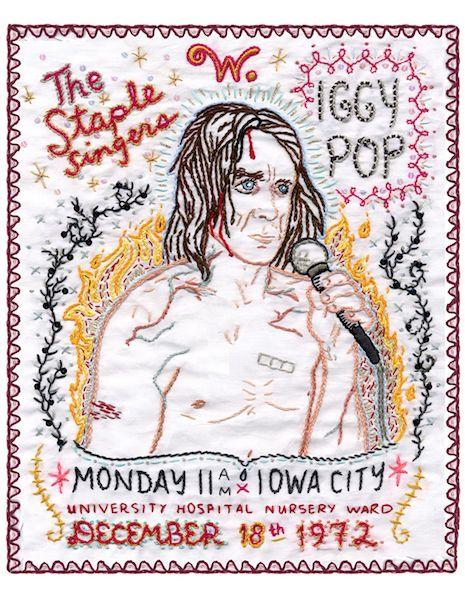Iggy Pop embroidery