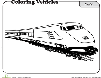 worksheets train coloring page