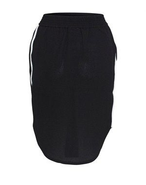 Nederdel med kontrast kantbånd