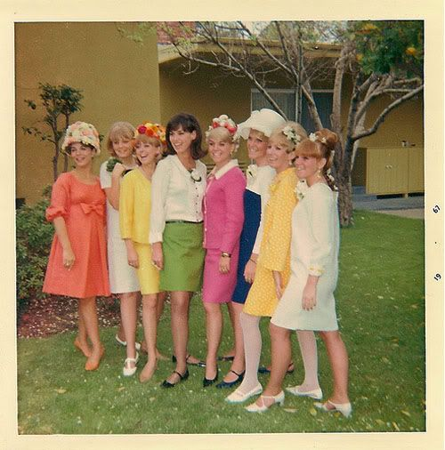 Image result for women in 1960s church with easter bonnets