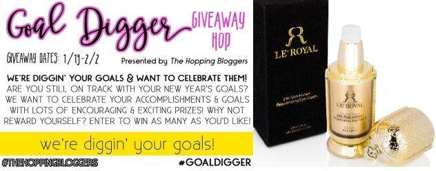 Goal Digger Giveaway Hop Le Royal 24k Gold Infused Rejuvenating Eye Cream Giveaway 2 2 17 Saralee S Deals Steals Giveaways Rejuvenate Eyes Giveaway Rejuvenation