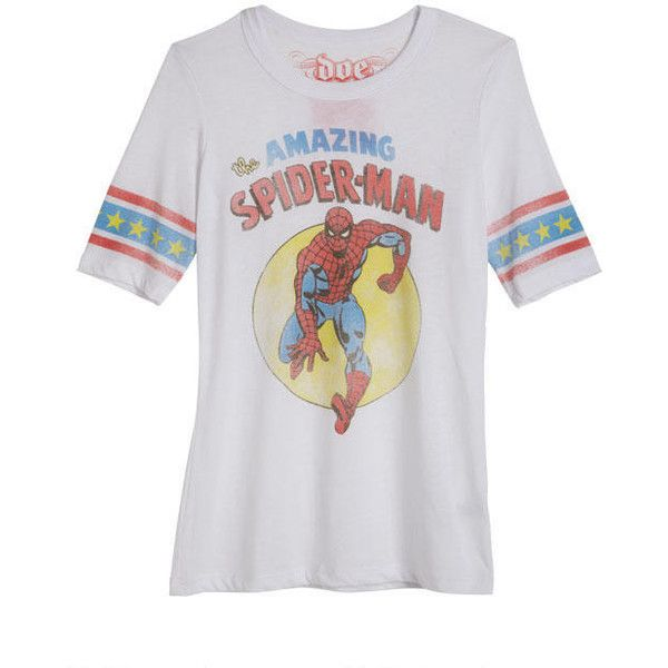 Vintage Amazing Spiderman ($25) ❤ liked on Polyvore featuring tops, t-shirts, shirts, superheros, vintage tops, shirt tops, vintage tees, vintage shirts and vintage t shirts