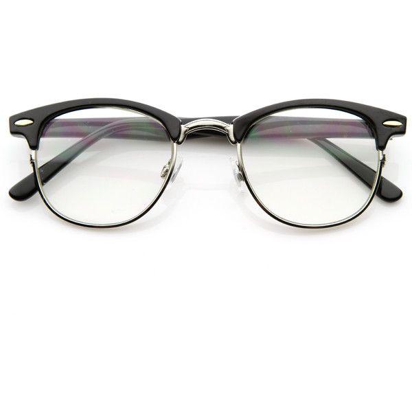 Vintage Optical Rx Clear Lens Half Frame Glasses 2946 49mm Half Frame Glasses Horn Rimmed Glasses Vintage Eye Glasses