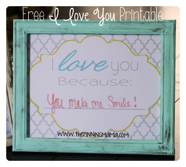 image relating to I Love You Because Printable referred to as Totally free \