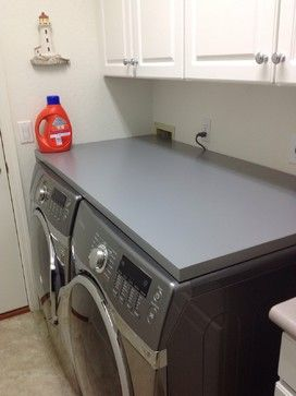 Counter Top Front Load Washer Dryer Laundry Room Countertop Diy
