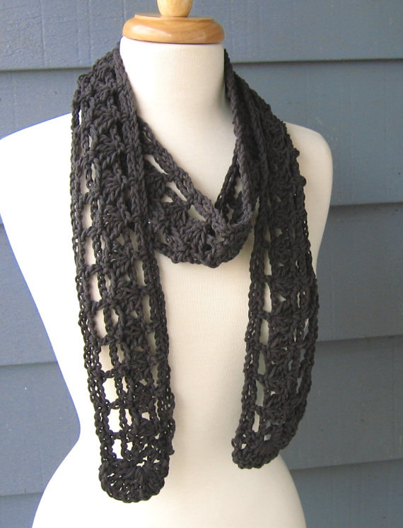 Pattern S 029 Crochet Pattern Holly Cotton Scarf Worsted 180