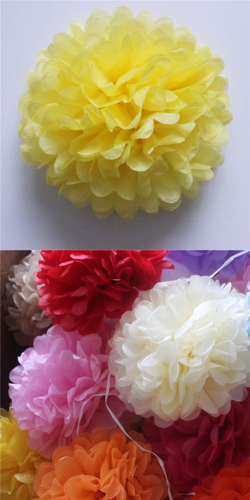 10cm4inch 10pcslot Small Hanging Tissue Paper Pom Pom Flowers