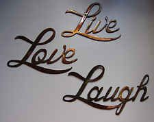 Superieur Live Love Laugh Small Version Words Metal Wall Art Accents