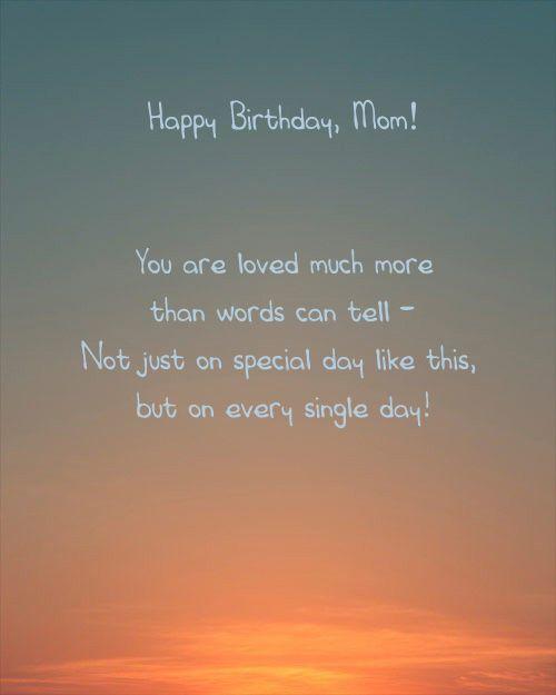 Mum Birthday Card Loving Words