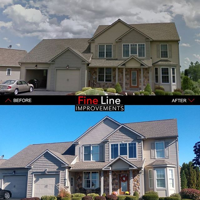 We Were Called For An Emergency Rooftarping As This Home Had Winddamage During A Strong Spring Storm We Were In 2020 Emergency Roof Repair Roof Repair House Styles
