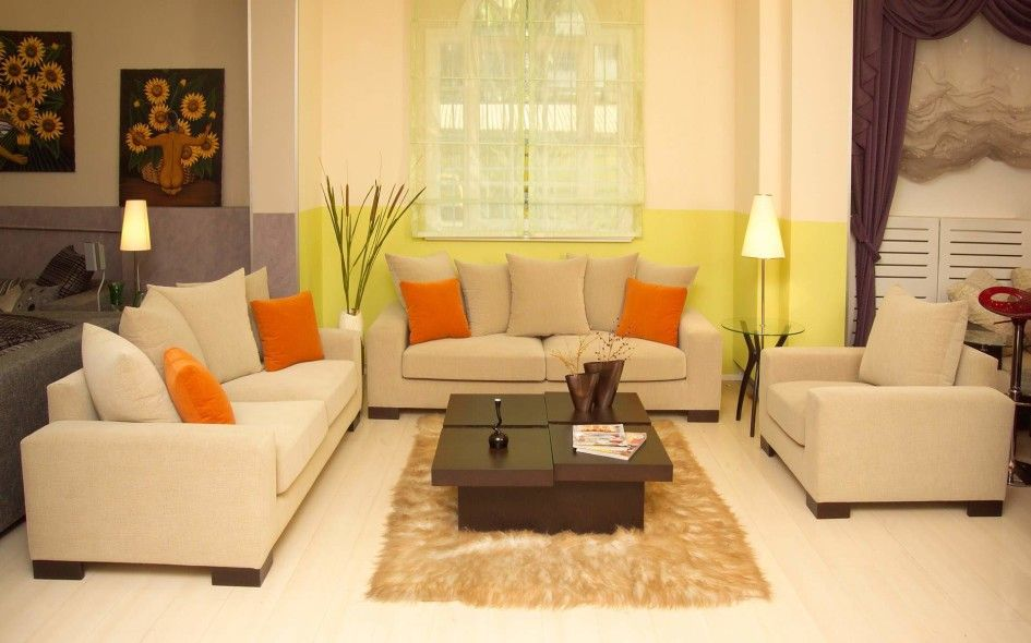 Modern Apartment Living Room Ideas With Neutral Wall Color Scheme ...