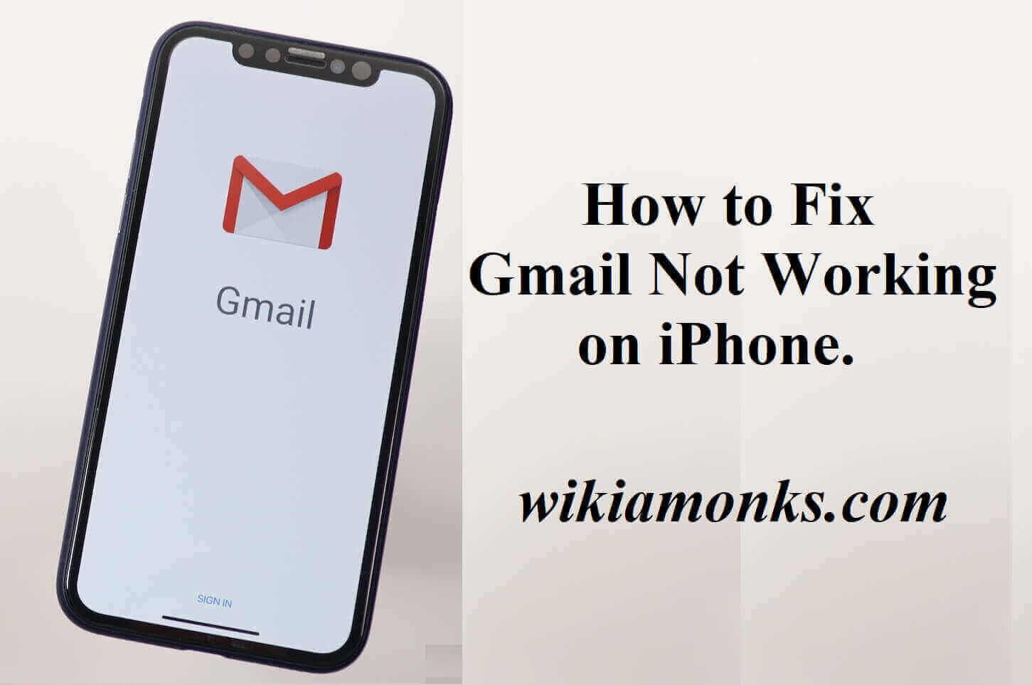 How to Fix Gmail not Working on iPhone. Iphone, Fix it