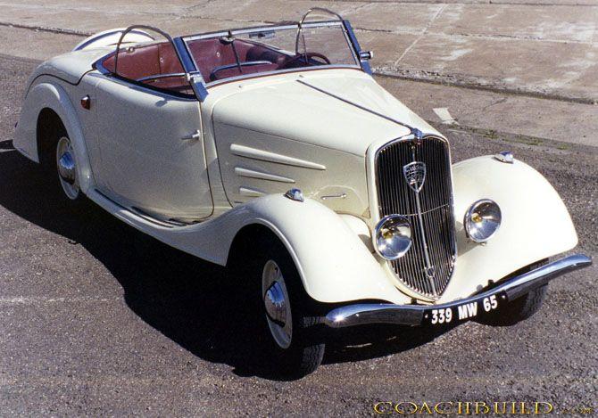 Peugeot 401 1934 Cabriolet Eclipse Realise Par La Carrosserie