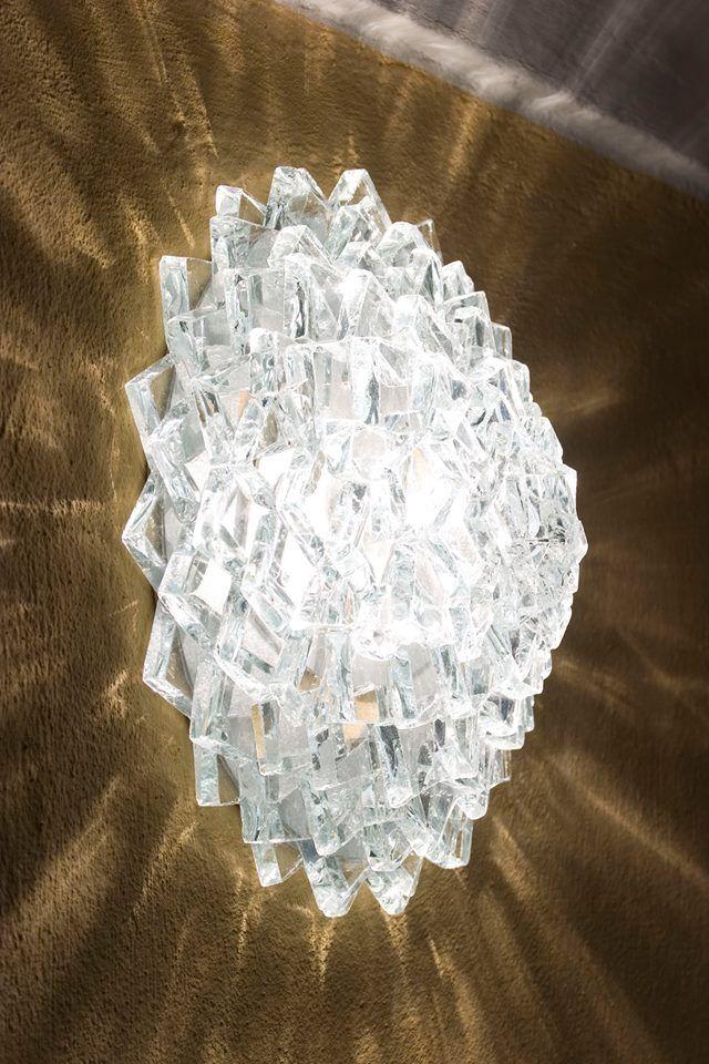Applique ou plafonnier fait en verre recyclé lustres