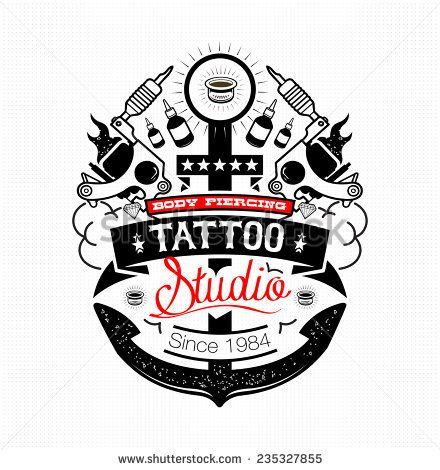 191d5cd5f Body Piercing and Tattoo studio emblem | george | Tattoo studio ...