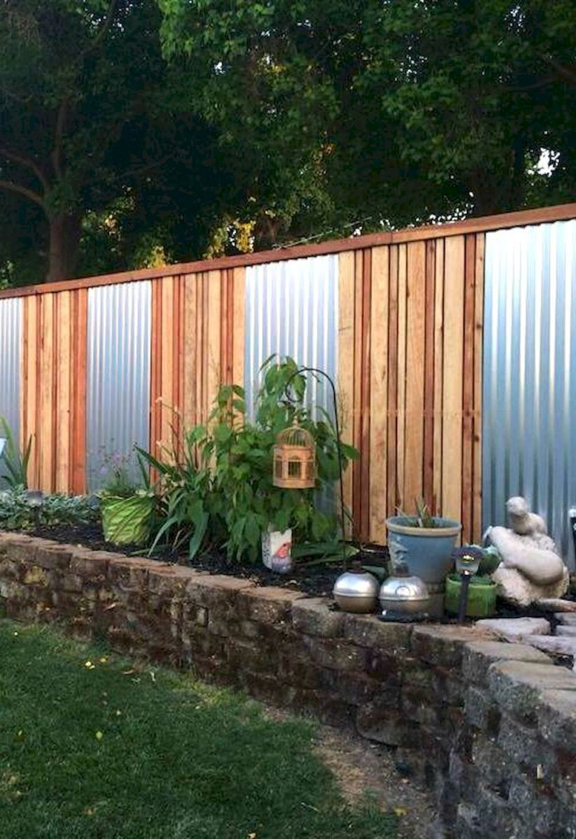 affordable backyard privacy fence design ideas (7) | design