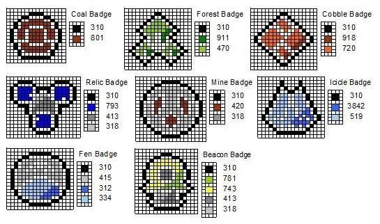 Sinnoh Gym Badges By Cdbvulpix On Deviantart Pokemon Cross Stitch Pokemon Cross Stitch Patterns Pokemon Bead