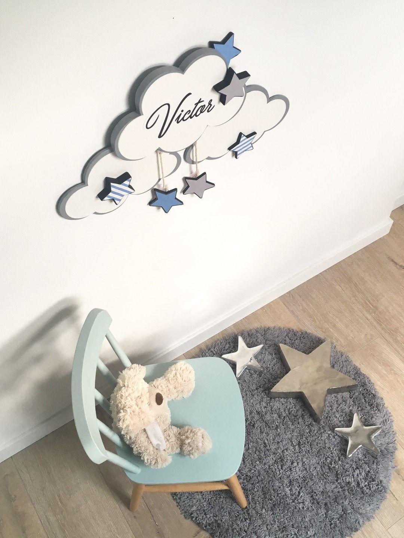 Décoration chambre enfant bébé mobile nuage étoile : Décoration