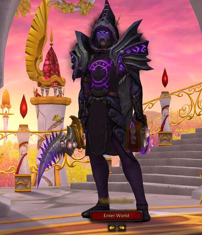 Saw This On A Mage On Here And Loved It But Thought It Might Be More Appropriate For My Shadow Priest Transmogrification Wow Hunter Transmog Mage Wow Mage